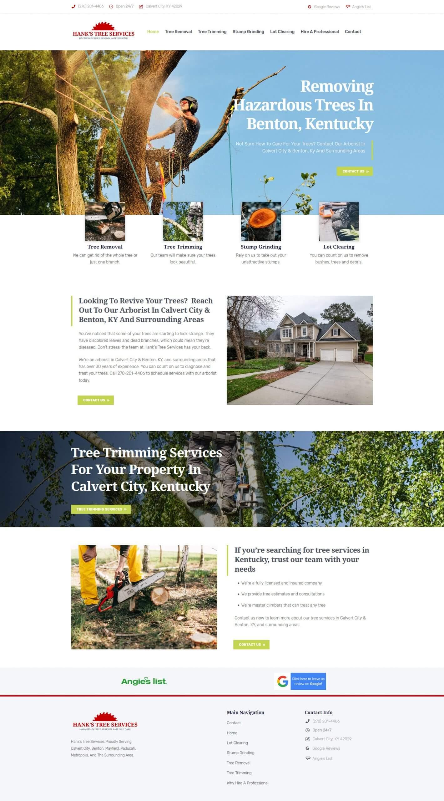 Screenshot 2020 06 23 Arborist Tree Services Tree Removal Calvert City Benton KY – Hanks Tree Services offers tree serv... scaled