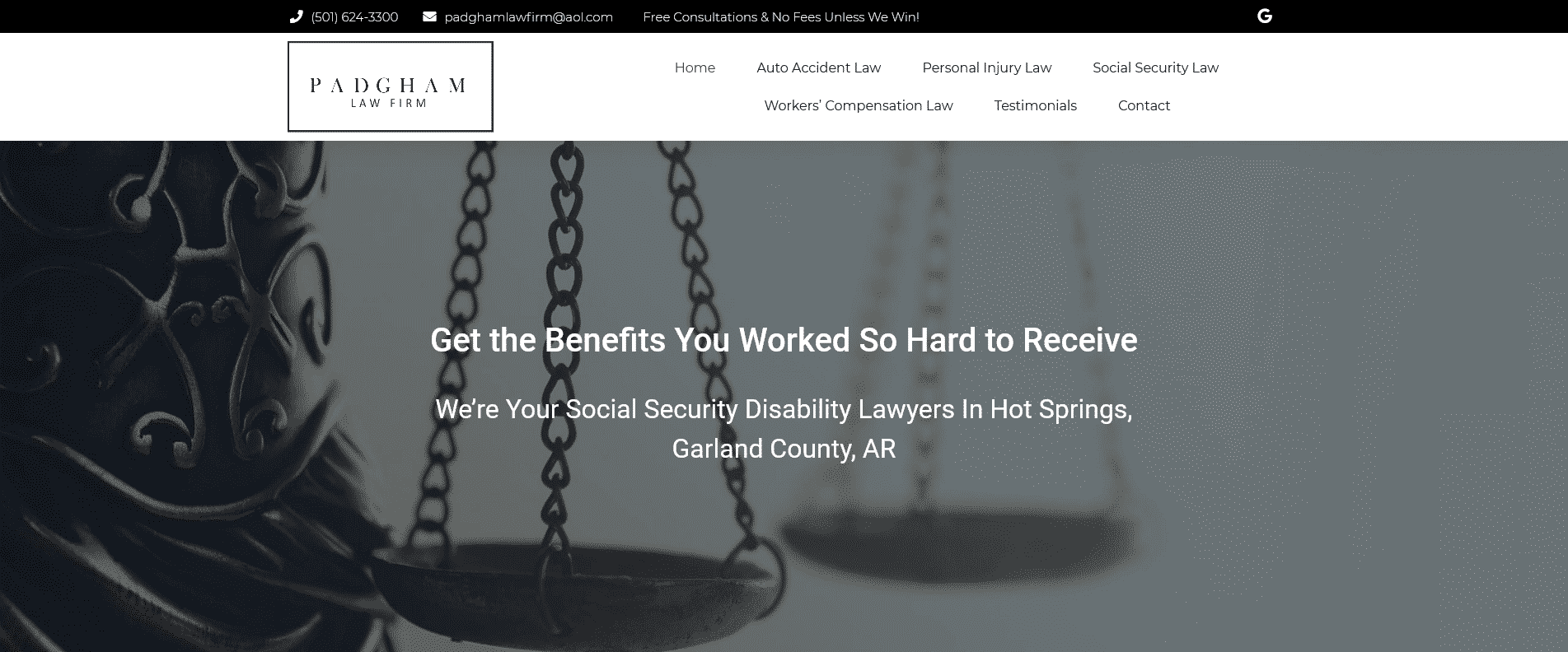Website for lawyer 01